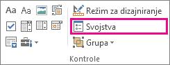 svojstva kontrole režima projektanta