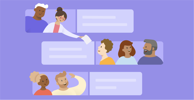 Ilustrovane osobe i poruke na kanalu