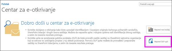 Create DLP Query button