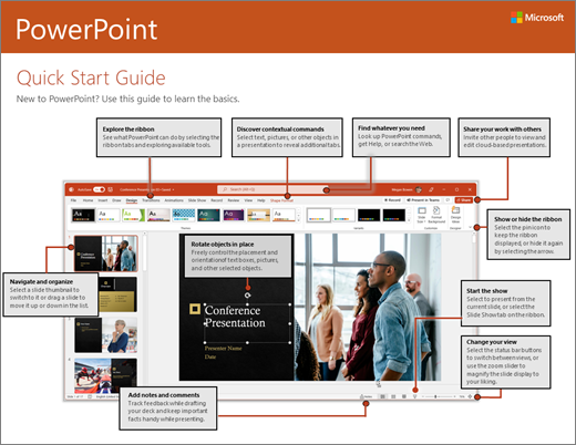 Vodič za brzi početak za PowerPoint 2016 (Windows)
