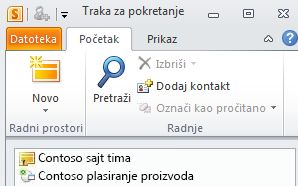 SharePoint radni prostor označeno ikonom sinhronizacija greške