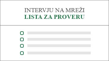 Konceptualna slika liste za proveru za prijave za posao