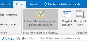 Funkcija fokusiranog prijemnog poštanskog sandučeta u programu Outlook
