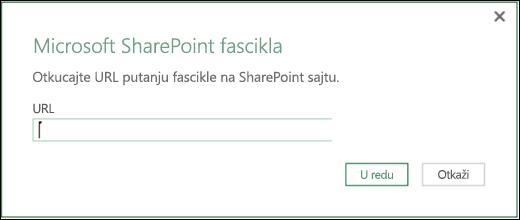 Excel Power BI – dijalog konektora SharePoint fascikle