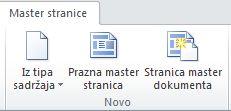 Dodavanje stranica programu SharePoint Designer 2010