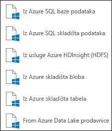 Preuzimanje podataka sa Microsoft Azure