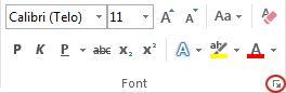 """pokretanje dijaloga """"Font"""""""