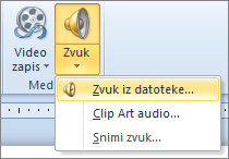 """Meni """"Audio"""""""