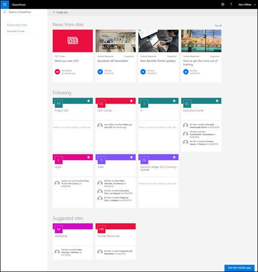 SharePoint matična stranica