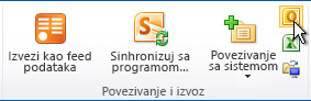"Povezivanje sa komanda ""Outlook"""