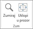 Zoom group on View tab