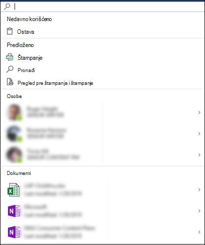 Potvrđeno Microsoft Search polje