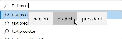 Slika predviđanja teksta
