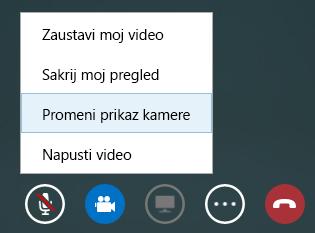 Snimak ekrana prebacivanja videa