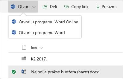 SharePoint online Open biblioteka dokumenata