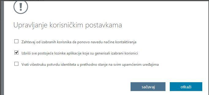 Brisanje lozinki aplikacija