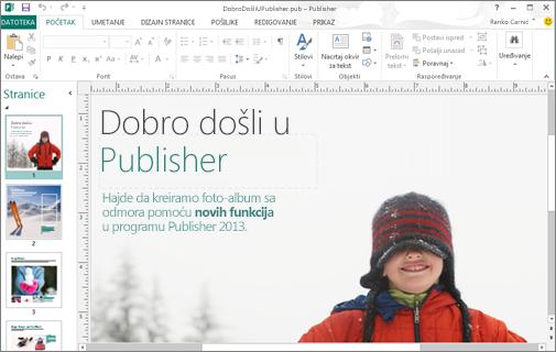 Otkrivanje programa Microsoft Publisher