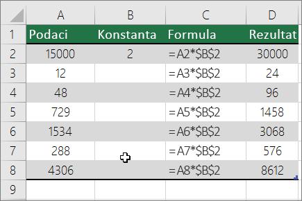 Množenje brojeva konstantom