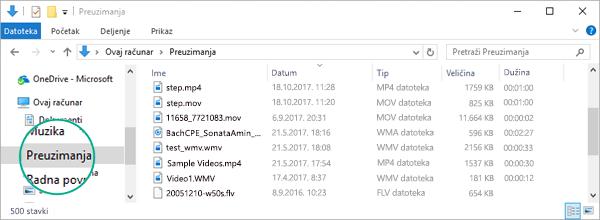 """Konvertovana datoteka se kopira u fasciklu """"Preuzimanja"""" na računaru"""
