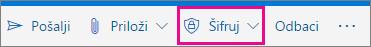 Outlook.com trake sa istaknutim dugmetom za šifrovanje