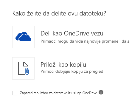 Kako želite da delite ovu datoteku?