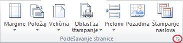 Slika trake u programu Excel