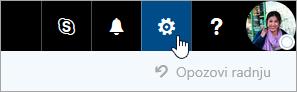 """Snimak ekrana dugmeta """"Postavke"""" na traci za navigaciju."""