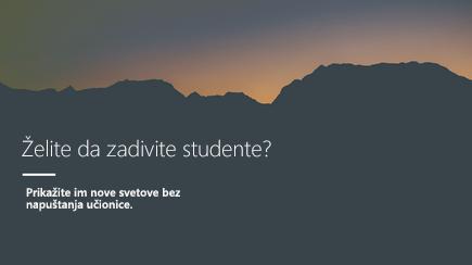 Snimak ekrana naslova slajda sa 3D PowerPoint predloškom