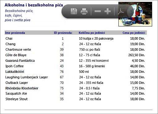 Ugrađena PDF datoteka za katalog proizvoda prikazana je u programu PDF Reader