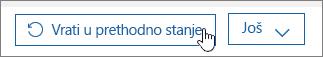 Vratite korisnika u prethodno stanje u usluzi Office 365.