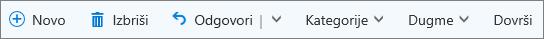 """Outlook.com komandna traka za označene e-poruke u fascikli """"Stavke označene zastavicom"""" i na listi zadataka"""