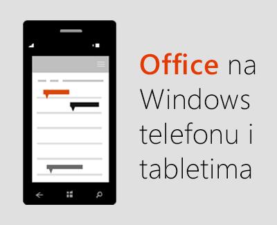 Kliknite da biste postavili Office aplikacije za mobilne uređaje na Windows 10 uređaju