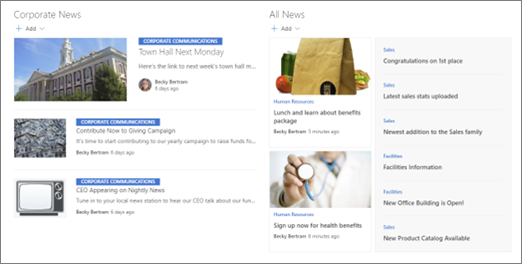 Primer sabrane vesti na sajtu čvorišta