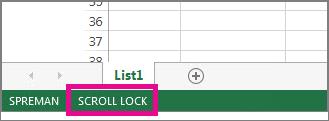 Scroll Lock se pojavljuje u donjem levom uglu ekrana