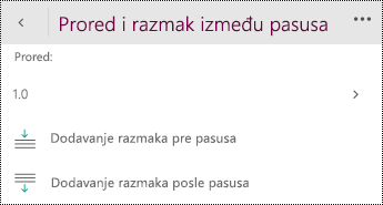 Izmenite postavke razmaka.