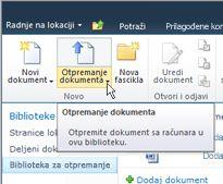 Otpremanje dokumenata u biblioteku za otpremanje