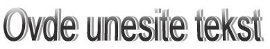 Normalno oblikovan WordArt u programu Publisher 2010