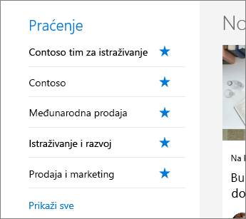 SharePoint Office 365 Praćenje