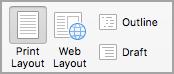 Kliknite na dugme rasporeda za štampanje