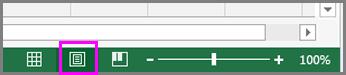 """Dugme """"Raspored na stranici"""" na statusnoj traci"""