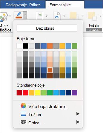 Kliknite na ikonu prikaza strukture slike