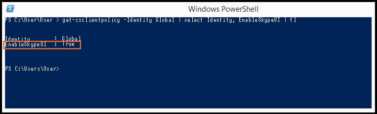 PowerShell: SkypeUIEnabled