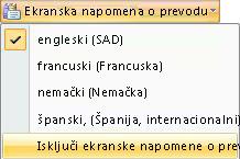 Isključivanje prevodom