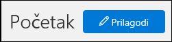 """Snimak ekrana dugmeta """"Prilagođavanje"""" na matičnoj stranici bezbednosti i centru za usaglašenost"""
