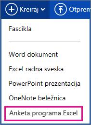 Kreiranje Excel ankete