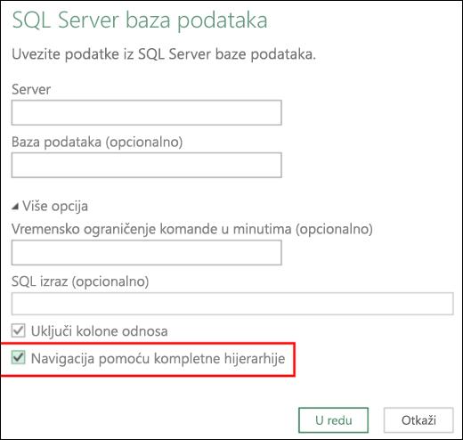 Excel Power BI – poboljšani konektori relacionih baza podataka