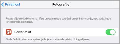 Pristup fotografije