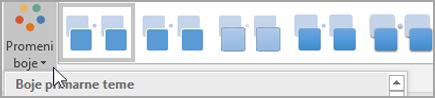 Kliknite na dugme Promeni boje