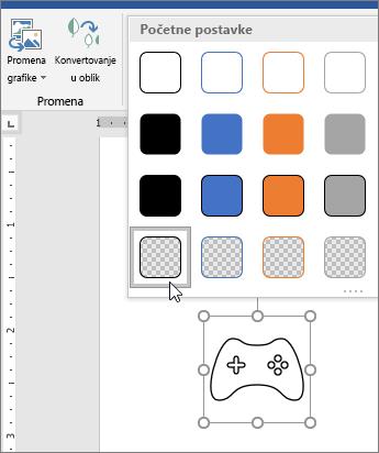 Uređivanje grafičkog stila ikone