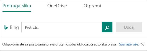 Umetanje slike opcije za Microsoft Forms